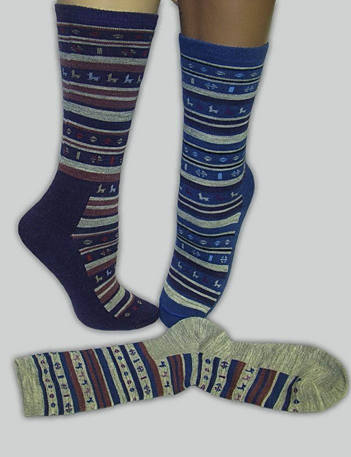Striped Alpaquitas Alpaca Socks