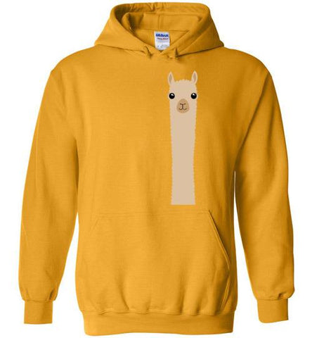 t-shirt: Alpaca Watching Custom Order Gildan Hoodie T-Shirt TS Gold S