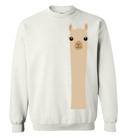 t-shirt: Alpaca Watching Gildan Sweatshirt - Purely Alpaca