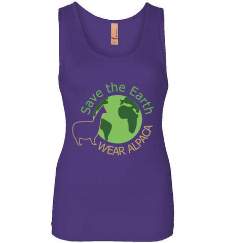 t-shirt: Save the Earth Wear Alpaca - Ladies Jersey Tank - Purely Alpaca