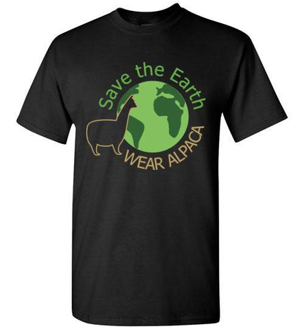 t-shirt: Save the Earth Wear Alpaca - Custom Order Short-Sleeve TS Black S