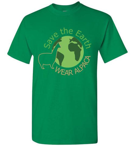 t-shirt: Save the Earth Wear Alpaca - Custom Order Short-Sleeve TS Turf Green S