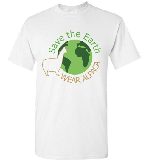 t-shirt: Save the Earth Wear Alpaca - Short-Sleeve