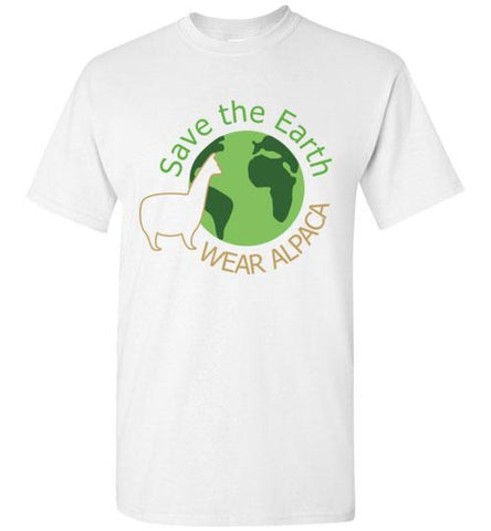 t-shirt: Save the Earth Wear Alpaca - Custom Order Short-Sleeve TS White S