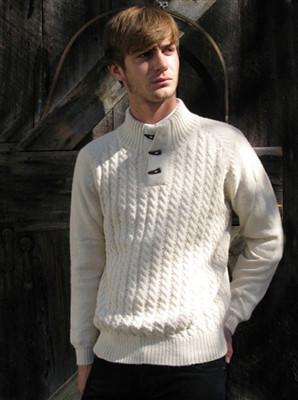 Toggle Alpaca Pullover DropShip PL Medium Ivory