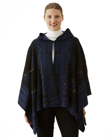 TREASURE REVERSIBLE HOODED ALPACA CAPE