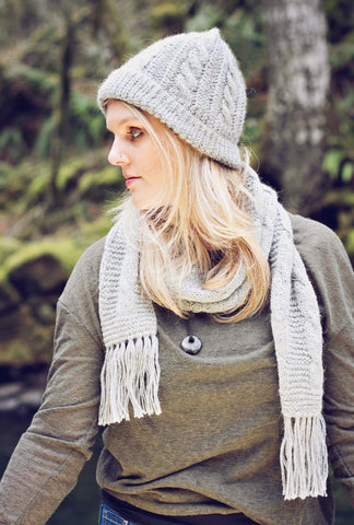 Trenza Cabled 100% Alpaca Knit Hat - Purely Alpaca