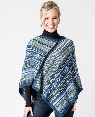 Wave Alpaca Shoulder Poncho - Purely Alpaca