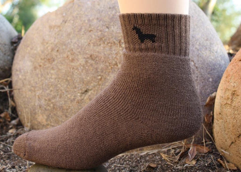 Womens Ankle Medium Weight Hunter Alpaca Socks Socks LNT Brown Medium