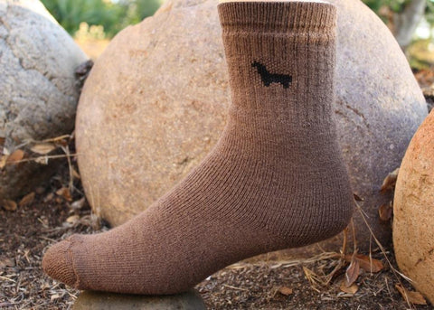 Womens Tall Medium Weight Hunter Outdoor Alpaca Socks Socks LNT Brown Medium