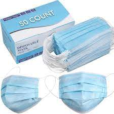 MASK SURGICAL DISPOSABLE 3-PLY (BOX OF 50)