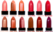 Our 12 lipstick colors