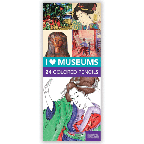 I Heart Museums Colored Pencil Set