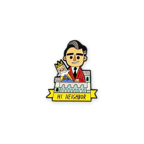 Hi Neighbor - Mister Rogers Enamel Pin