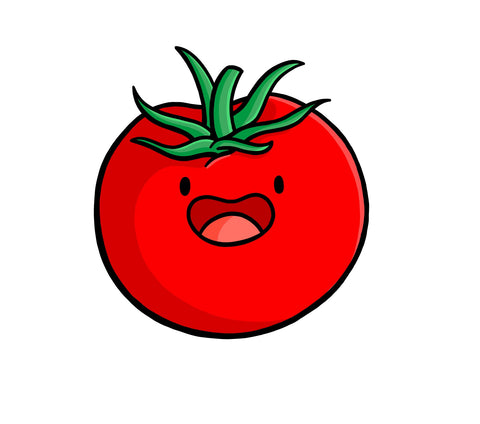 Happy Tomato (Sticker or Magnet)