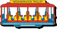 Mister Rogers Trolley Chunky Magnet