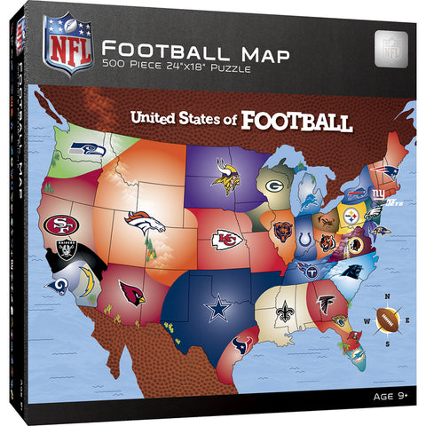 NFL Football Map Puzzle