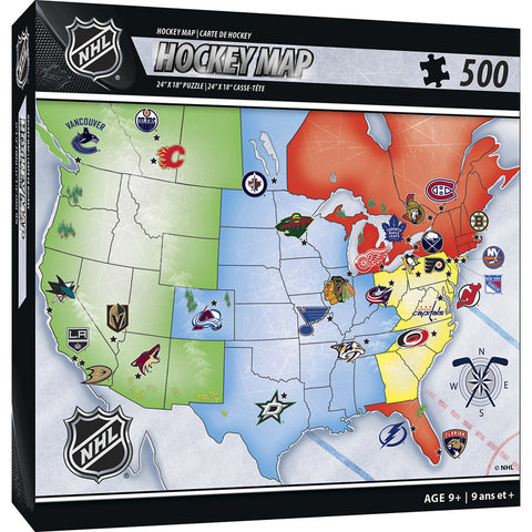 NHL Hockey Map Puzzle