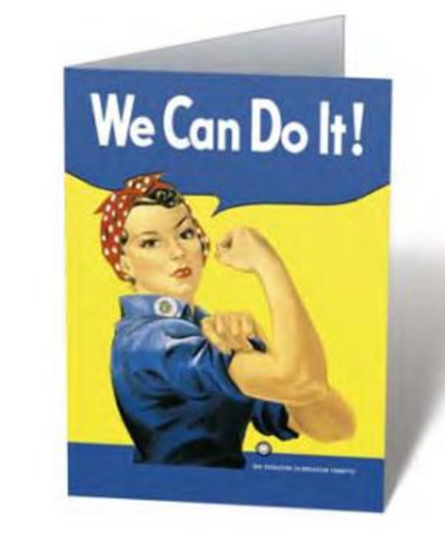 Rosie the Riveter Notecard