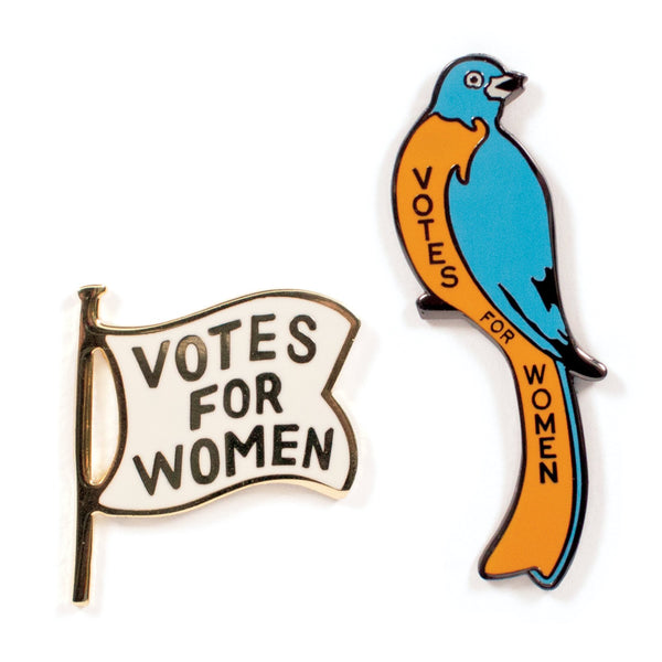 19th Amendment Enamel Pin Set