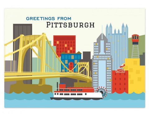 Pittsburgh Skyline Postcard