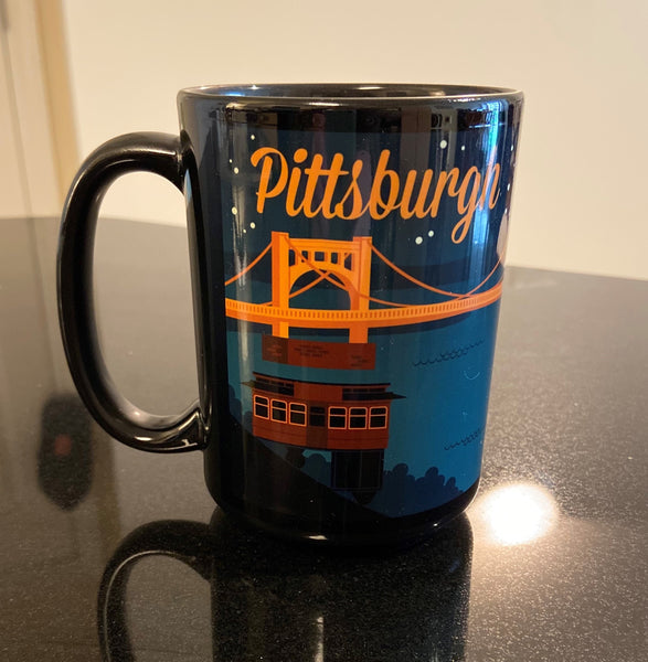 Pittsburgh Retro Skyline Mug