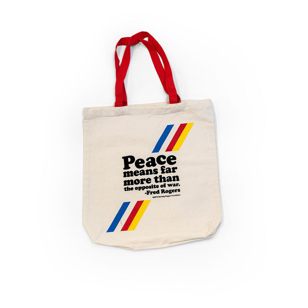 "Mister Rogers ""Peace"" Tote Bag"