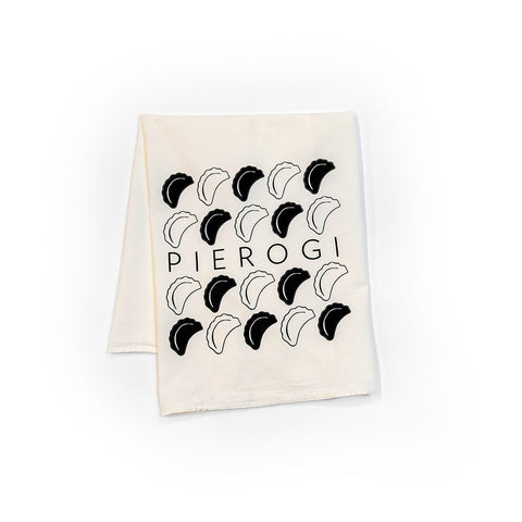 Pierogi Rows Tea Towel
