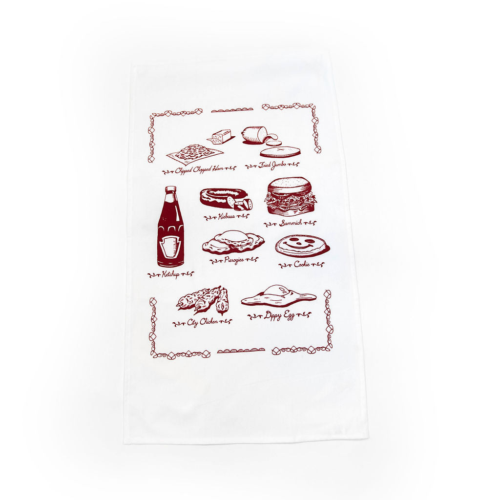 Pittsburgh Food Tea Towel