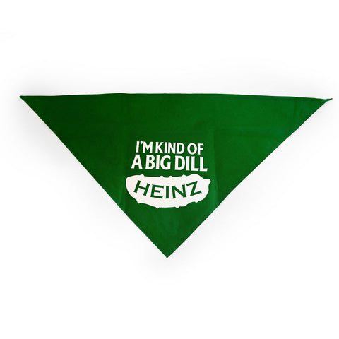 """I'm Kind of a Big Dill"" Dog Bandana"
