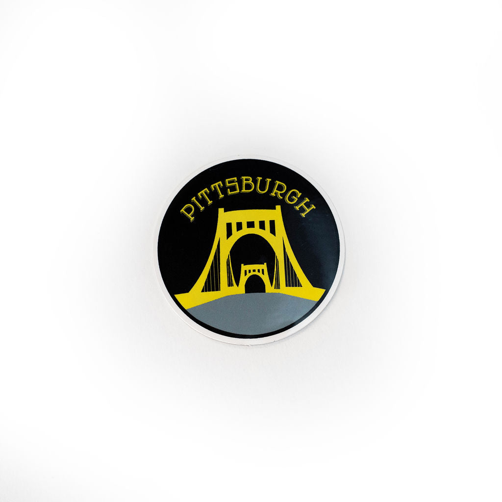 Black & Gold Pittsburgh Bridge Sticker