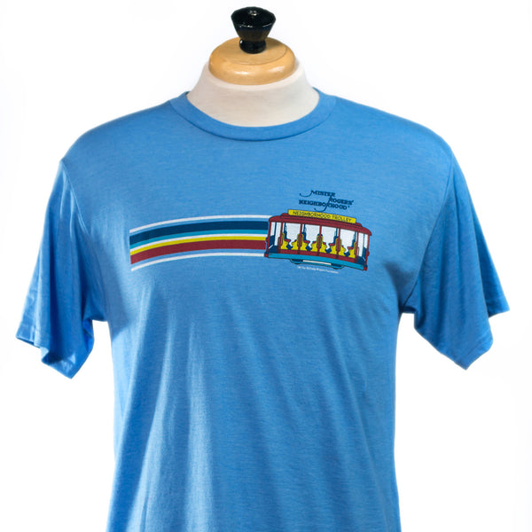 Mister Rogers Trolley Stripe T-Shirt