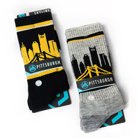 Pittsburgh Skyline Socks