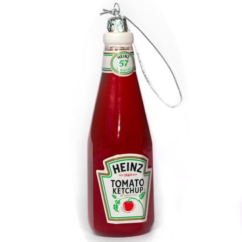Heinz Ketchup Bottle Glass Ornament