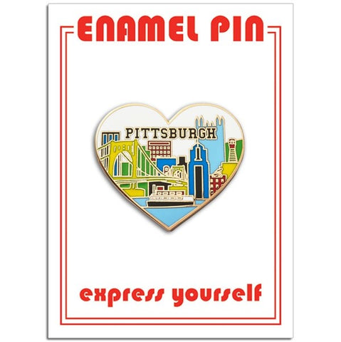 Pittsburgh Skyline Heart Enamel Pin