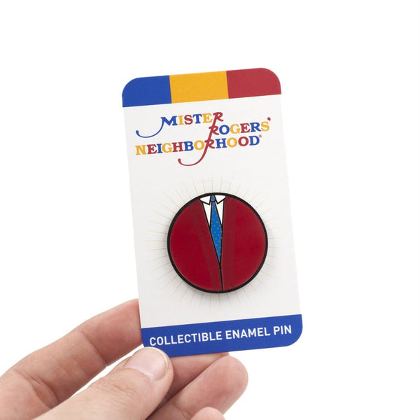 Mister Rogers Red Sweater Enamel Pin
