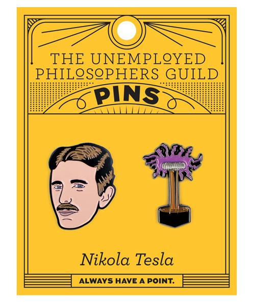 Nikola Tesla Pin Set