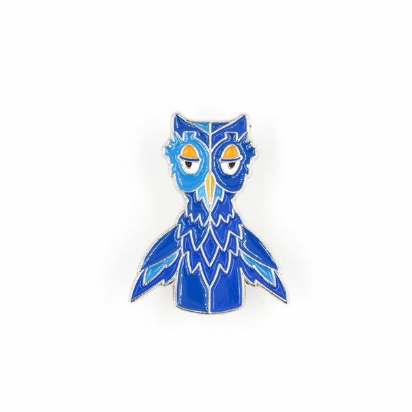 Mister Rogers X the Owl Enamel Pin