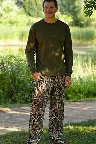 Camo Mens Wear Pijama Lounge Pants Shadow Grass