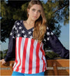 American Flag Long Sleeve Pullover - American Outdoor Woman
