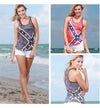 Rebel Flag Burnout Racer Back Tank (RED) - American Outdoor Woman