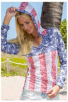American Flag Burn Out Hoodie - American Outdoor Woman