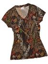 Mossy Oak Camo T-Shirt V Neck - American Outdoor Woman
