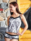 Naked North Snow Camo Camisole Lace Black - American Outdoor Woman