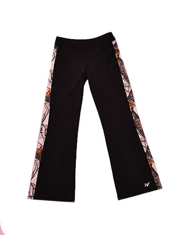 Mossy Oak Pink Camo Pants Black - American Outdoor Woman