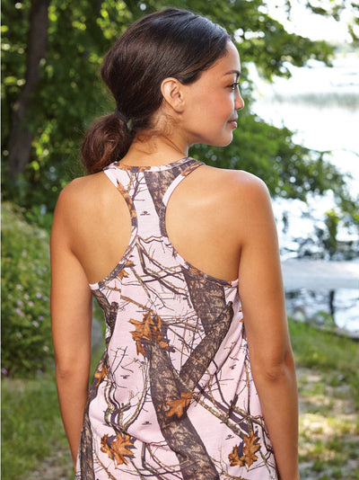 Casual Wear, camo racerback tank top pink