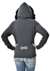 GWG Fur Hoodie Charcoal - American Outdoor Woman