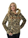a GWG Fur Hoodie Mossy Oak Blades - American Outdoor Woman