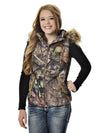 a GWG Fur Vest Mossy Oak - American Outdoor Woman