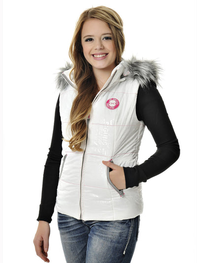 Gwg Fur Vest White American Outdoor Woman